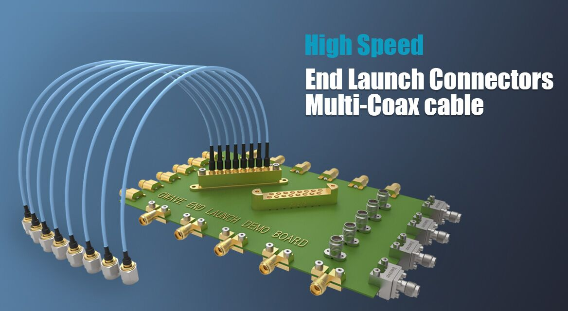 End Launch connectors and Multi Coax cable assembly